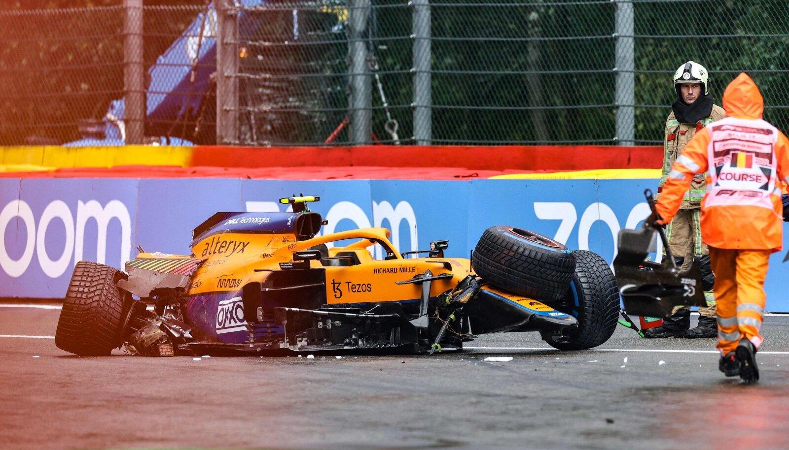 McLareni noore tähe Lando Norrise jaoks lõppes kvalifikatsioon rajapiiretes.