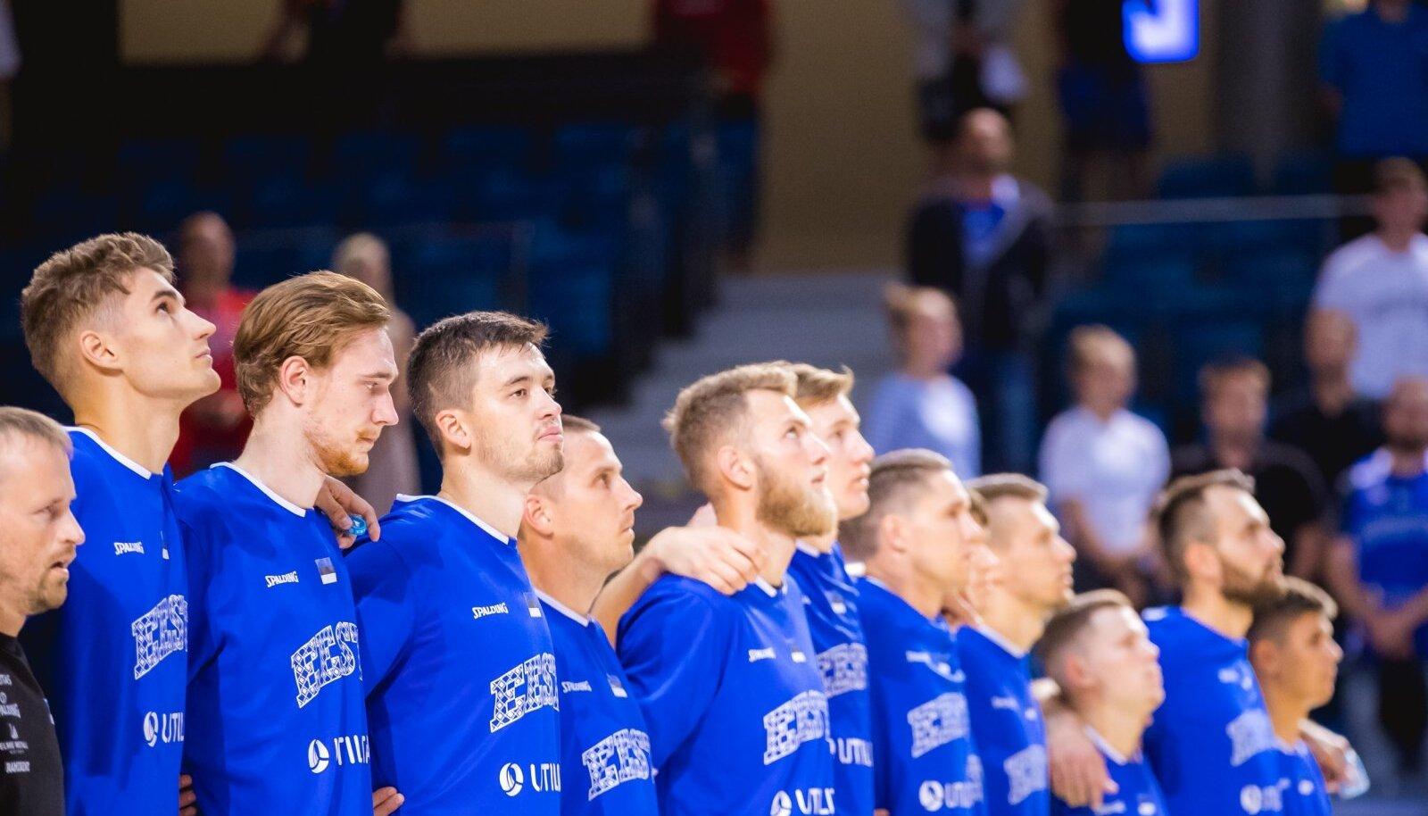 Eesti korvpallikoondis.
