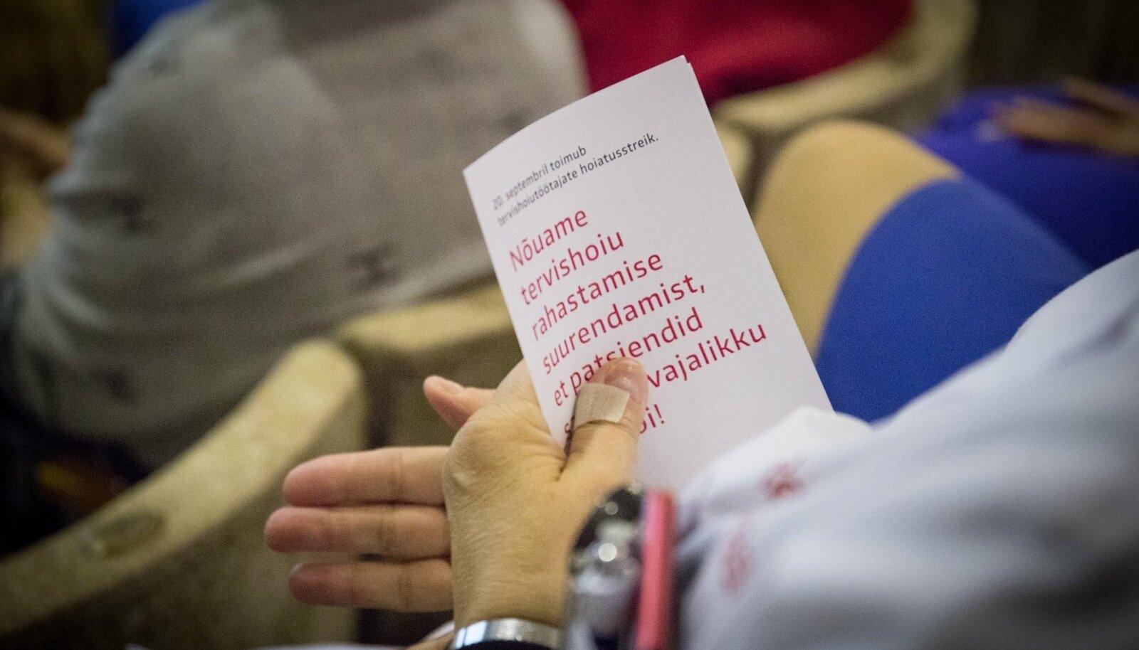 Tervishoiutöötajad korraldasid hoiatusstreigi