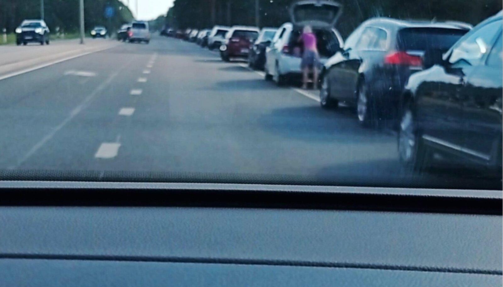 KÕIK KOHAD TÃIS: Selline pilt avanes maantee ääres viimasel nädalavahetusel.