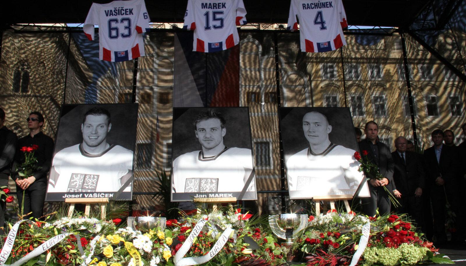 """Чешские хоккеисты """"Локомотива"""", погибшие 7 сентября 2011 года"""