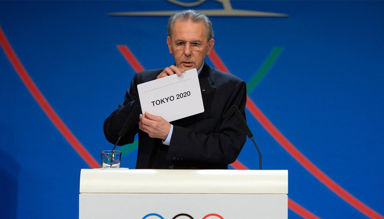 Jacques Rogge kuulutas 2013. aastal Tokyo olümpialinnaks.