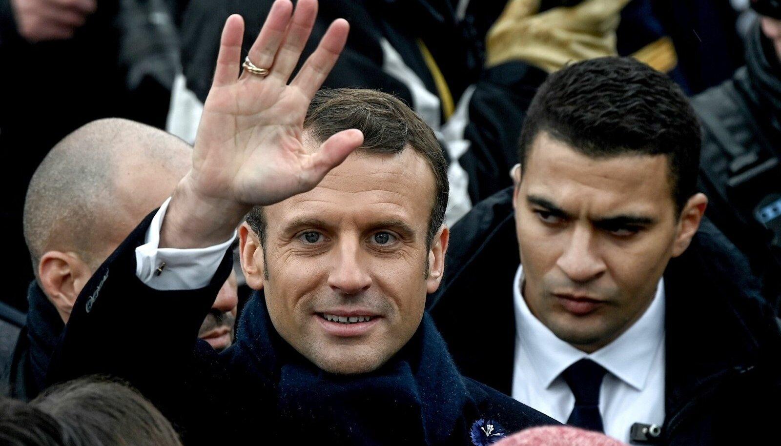 Prantsuse president Emmanuel Macron osales eile Pariisis esimese maailmasõja lõpu aastapäeva üritusel.