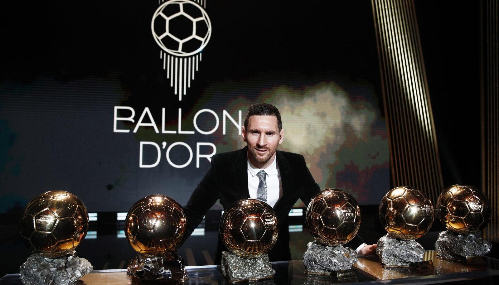 Lionel Messi ja tema kuus Ballon d'Or'i.
