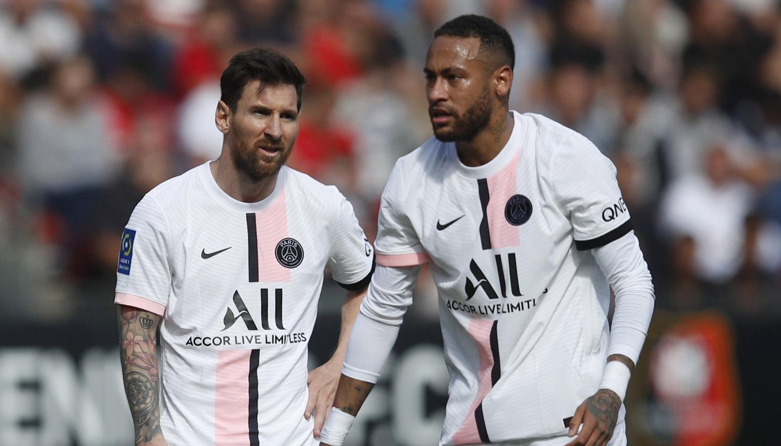 Lionel Messi ja Neymar ei suutnud PSG-d kaotusest päästa.