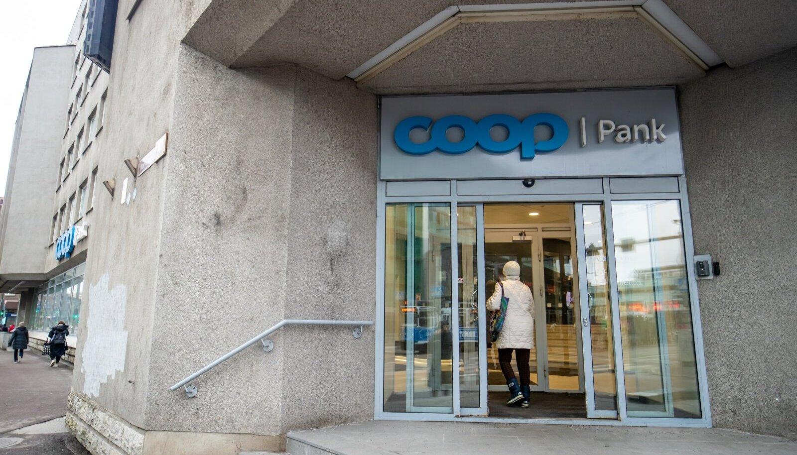 Coop pank Sissepääs