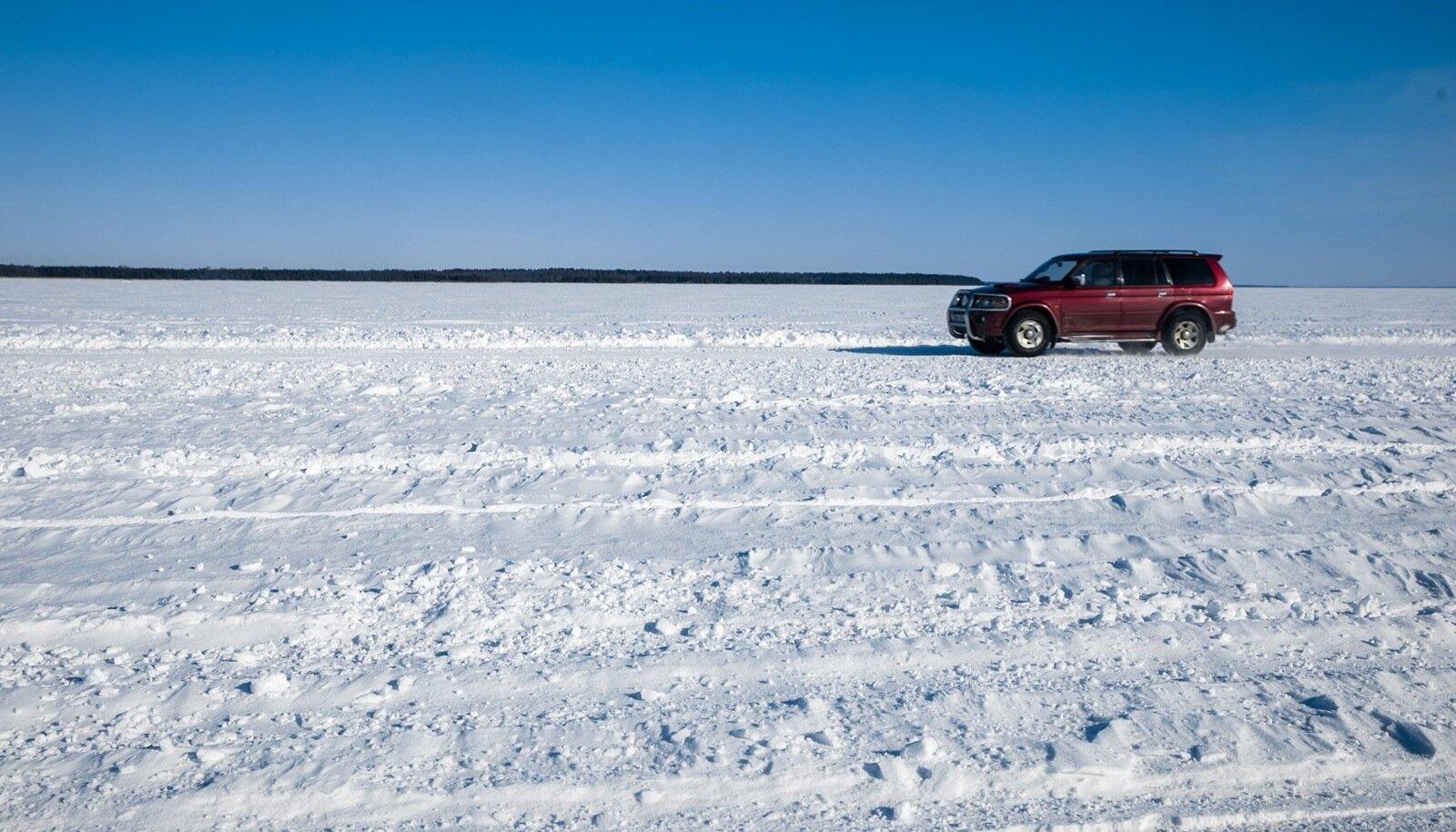Vormsi jäätee 2018 märtsis