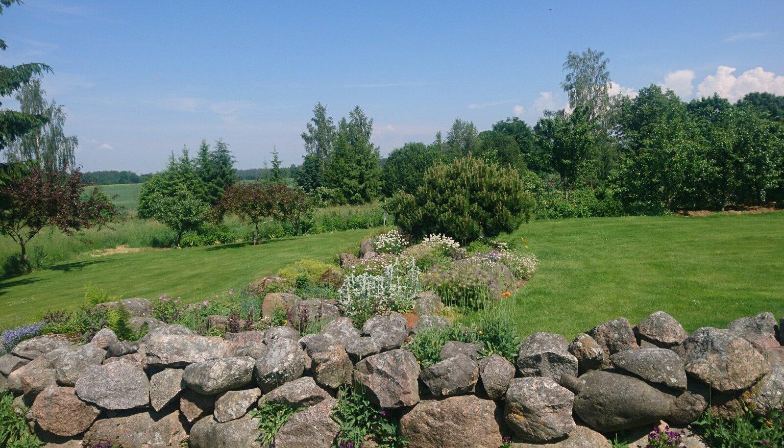 Palusalu aias pole ühtegi kohta, mis lihtsalt oleks. Isegi kivikuhjast on saanud aed ja kiviktaimla ning seeläbi vaatamisäärsus.