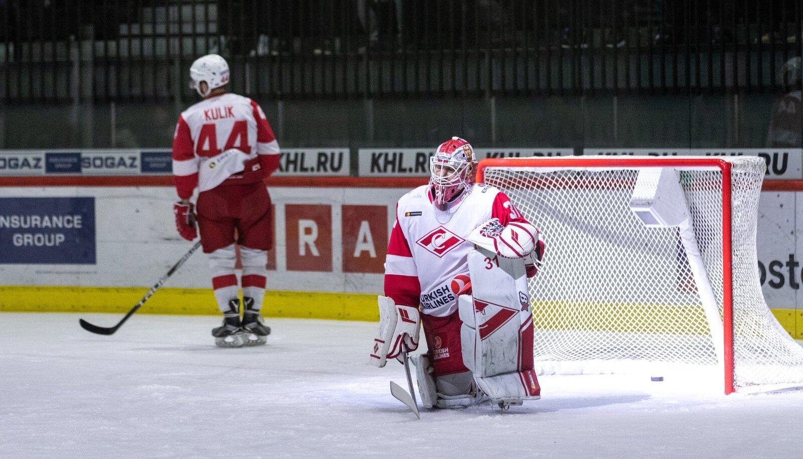 Moskva Spartak 2018. aasta oktoobris Tallinnas Tondiraba jäähallis.