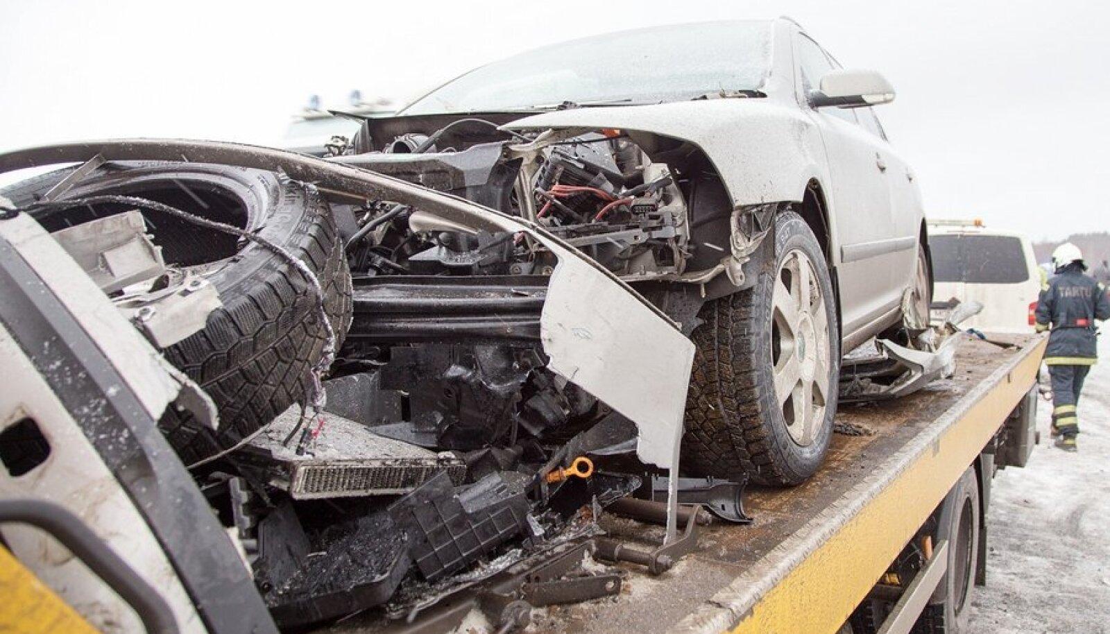 Liiklusõnnetus Kärevere sillal