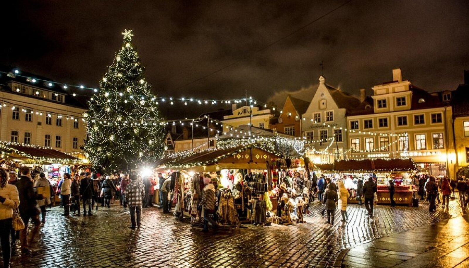 Jõulueelne melu vanalinnas