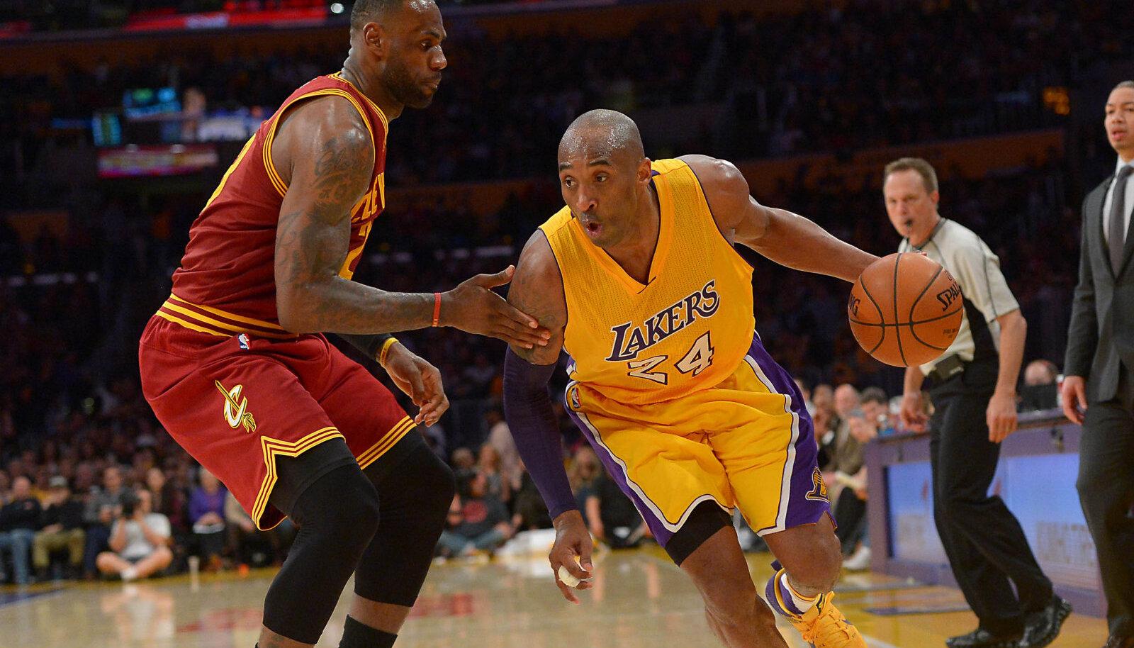 LeBron James ja Kobe Bryant