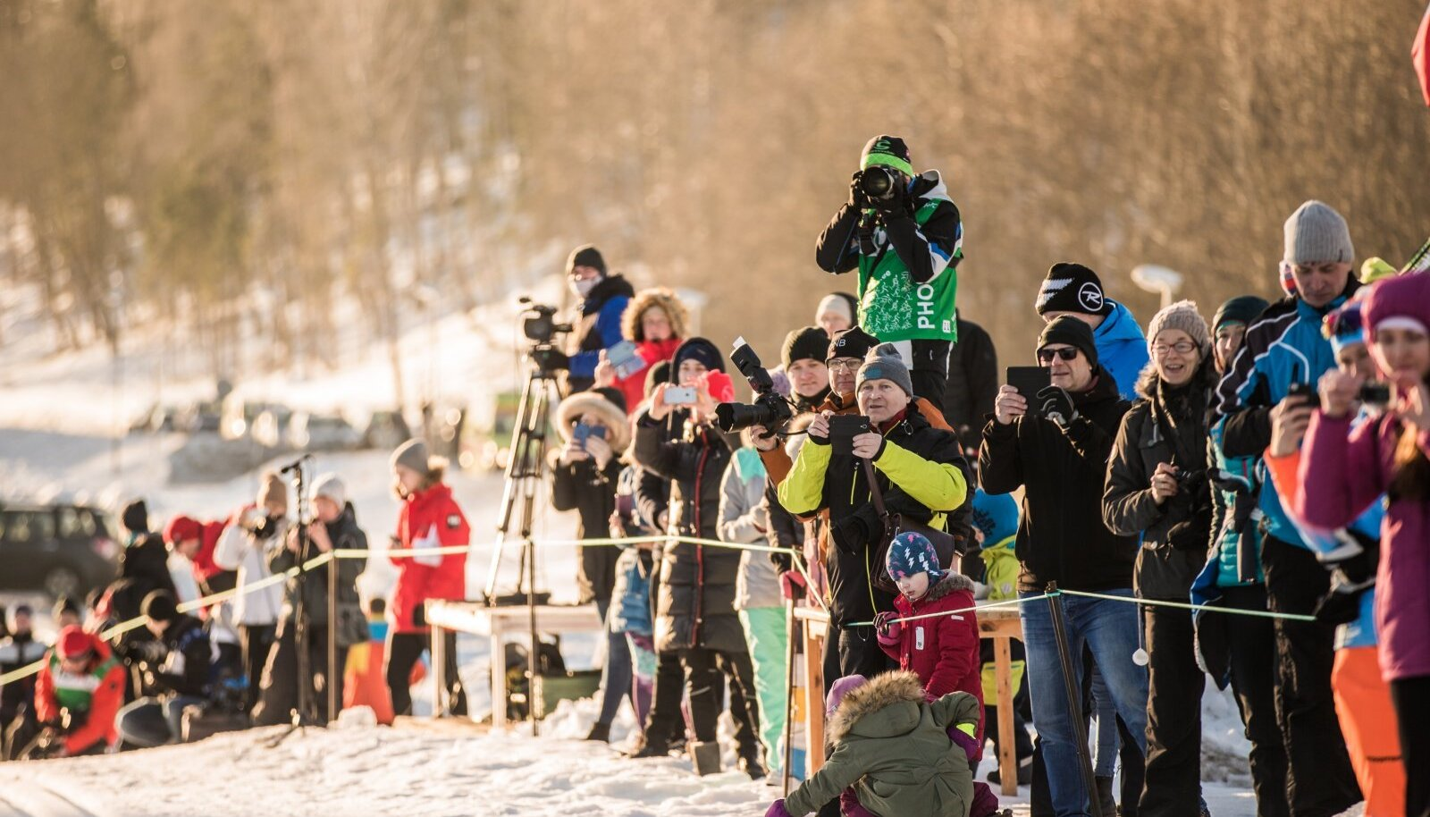 Pealtvaatajad 2019 Tartu Maratoni stardis.