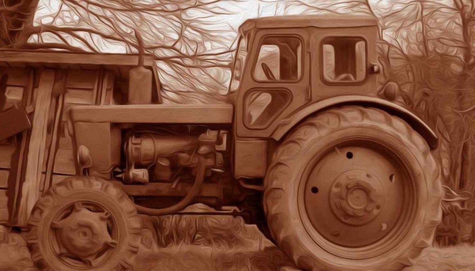 """EKL ja Maaleht esitlevad: Elust maal. Mauri Gross """"Absolut corrosion"""", õli, lõuend, 2x2 m, 2017."""