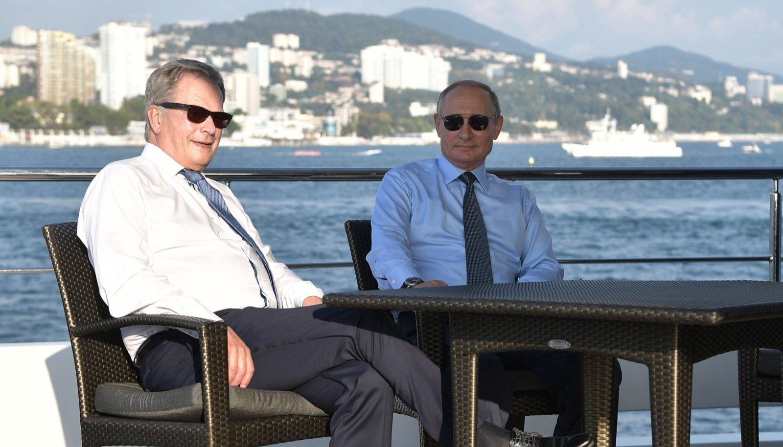 Niinistö ja Putin Sotšis