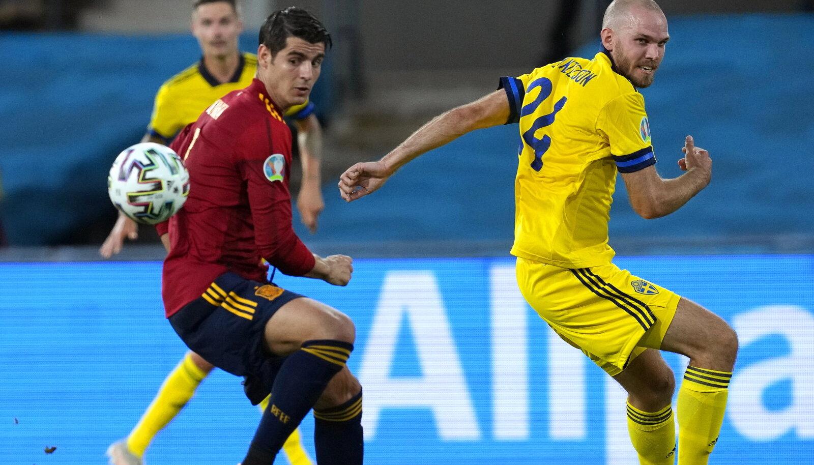 Alvaro Morata mängus Rootsiga