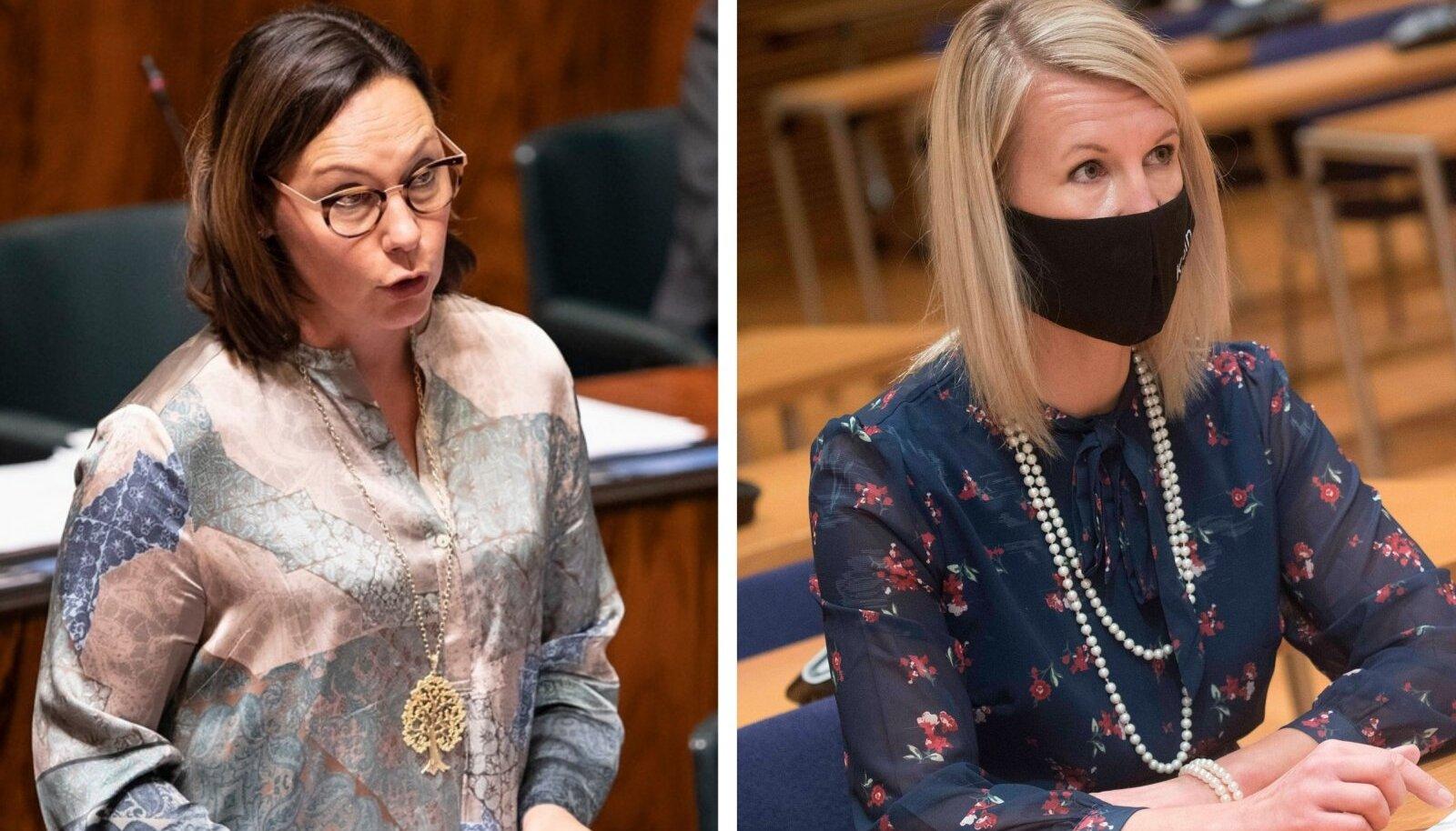 Anne-Mari Virolainen ja Sari Multala