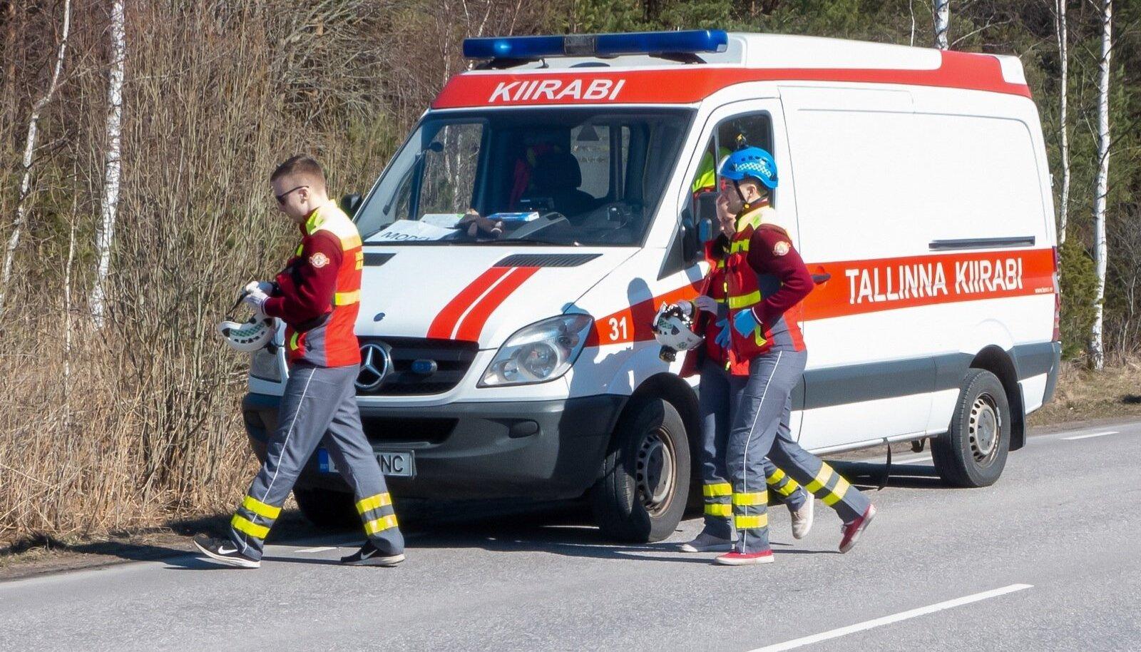 Kiirabibrigaad tegutsemas (foto on illustratiivne).