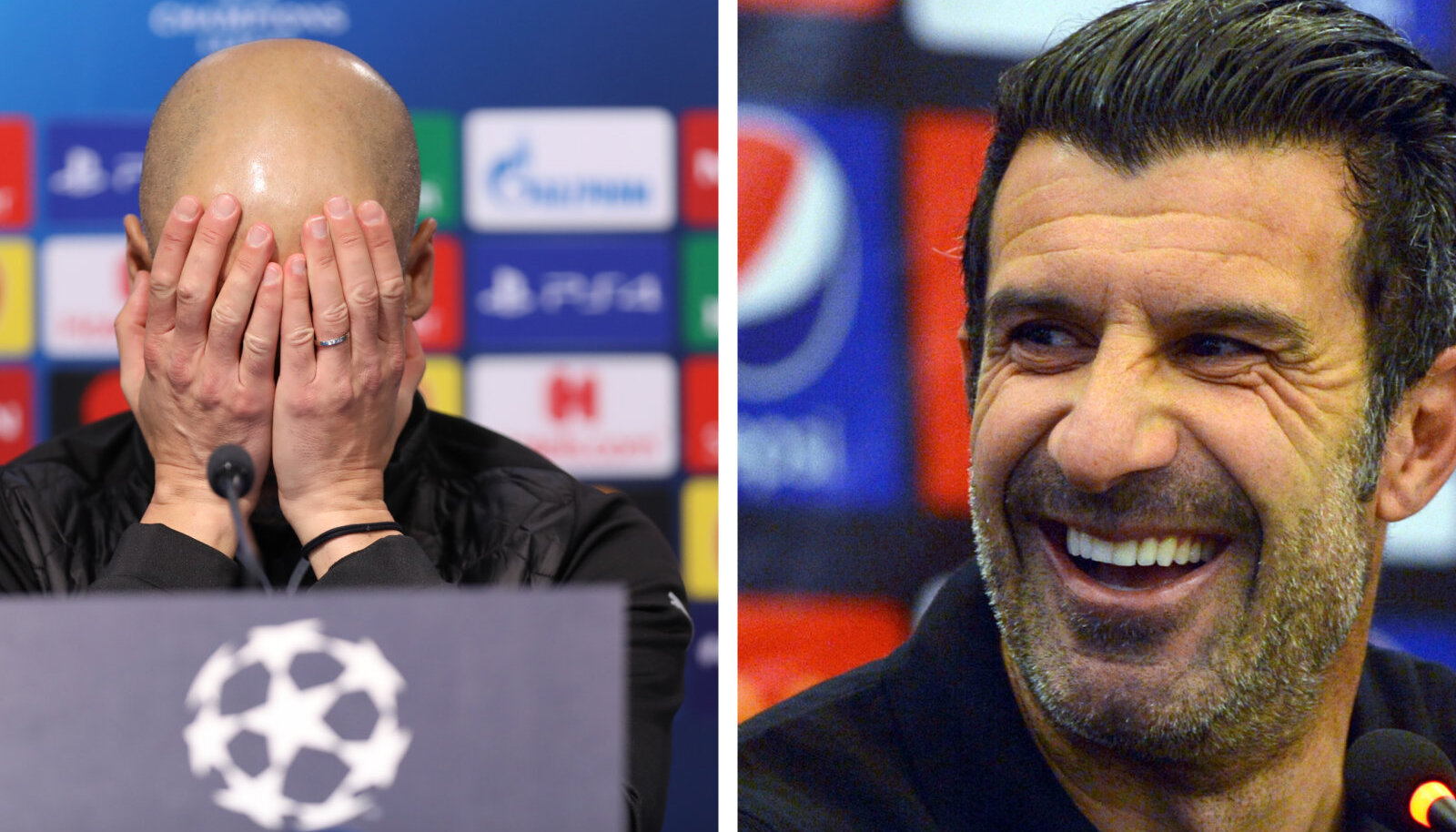Pep Guardiola ja Luis Figo.
