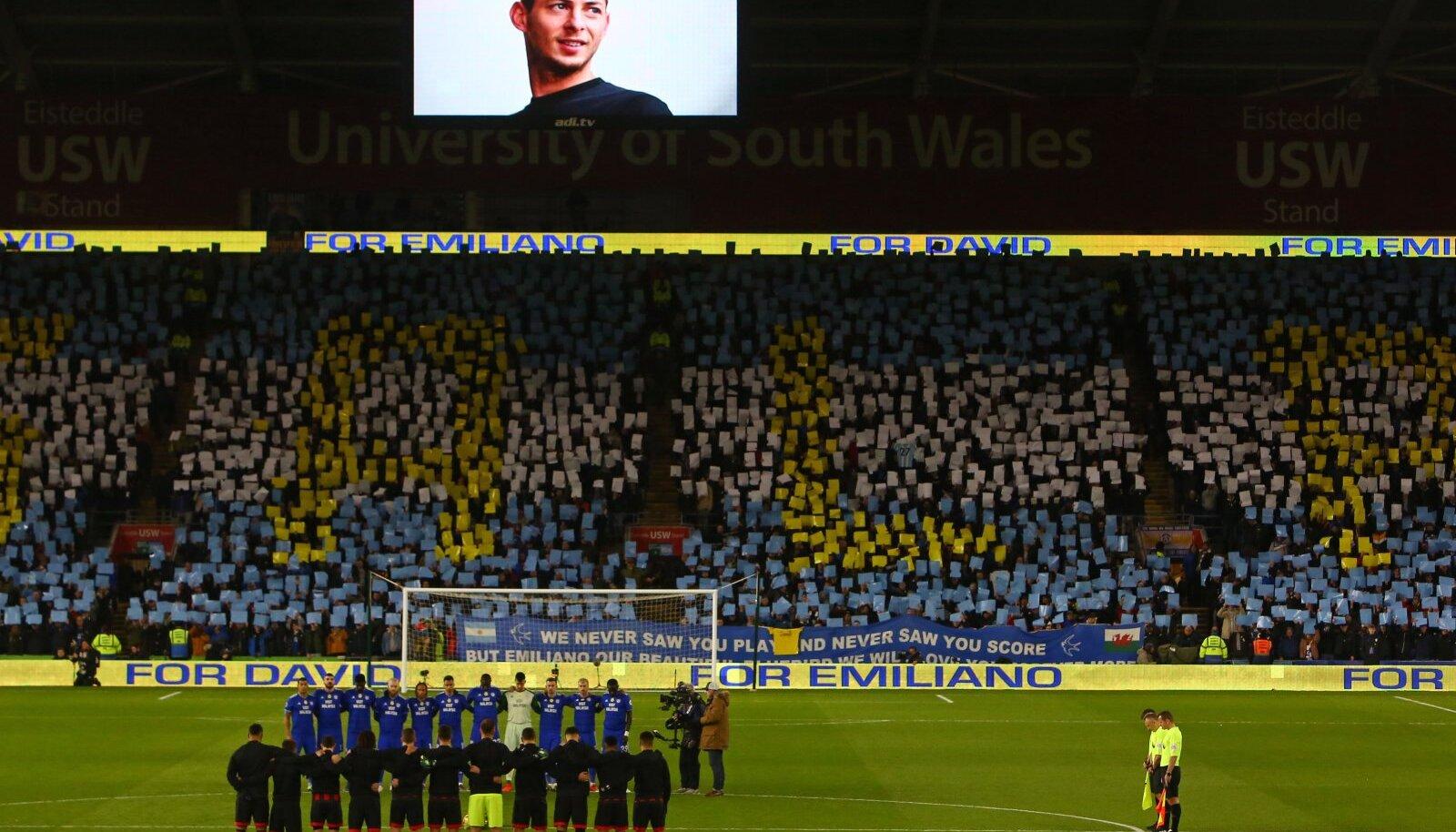 Leinaseisak 2. veebruaril Cardiff City - Bournemouthi Premier League'i mängul.