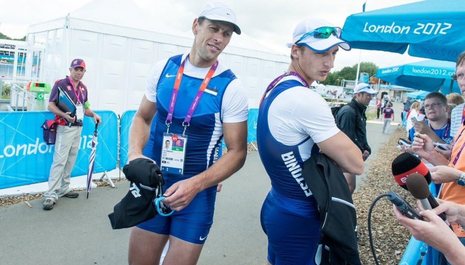Tõnu Endrekson ja Allar Raja Londoni olümpial.
