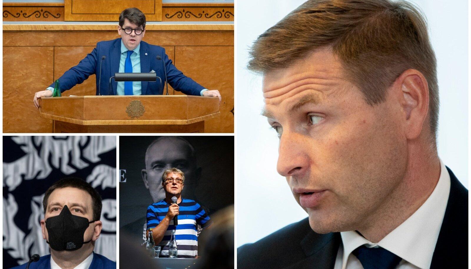 Priit Sibul, Hanno Pevkur, Jüri Ratas ja Jaak Valge.