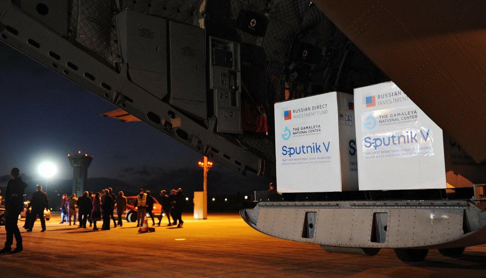 Esmaspäeval jõudis Moskvast Slovakkiasse oodatud saadetis: suured kastid Sputnik V vaktsiini.