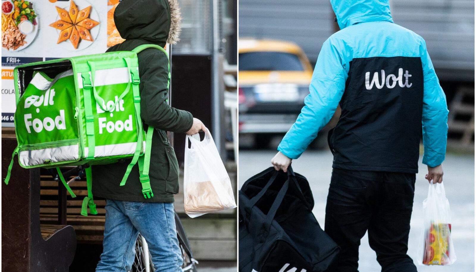 Bolt Food ja Wolt toidu kojutoomise teenus.