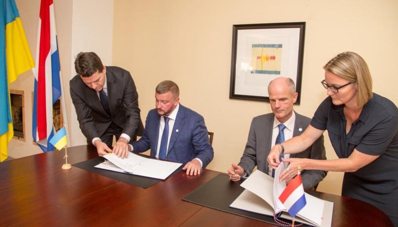 Hollandi-Ukraina kokkuleppe allkirjastamine Tallinnas