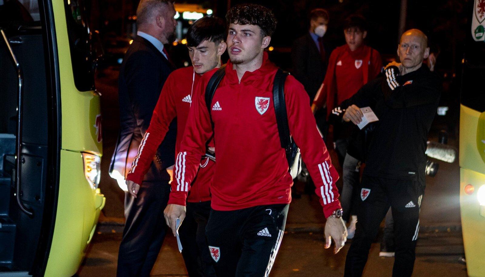 Walesi jalgpallikoondislased Tallinnas.