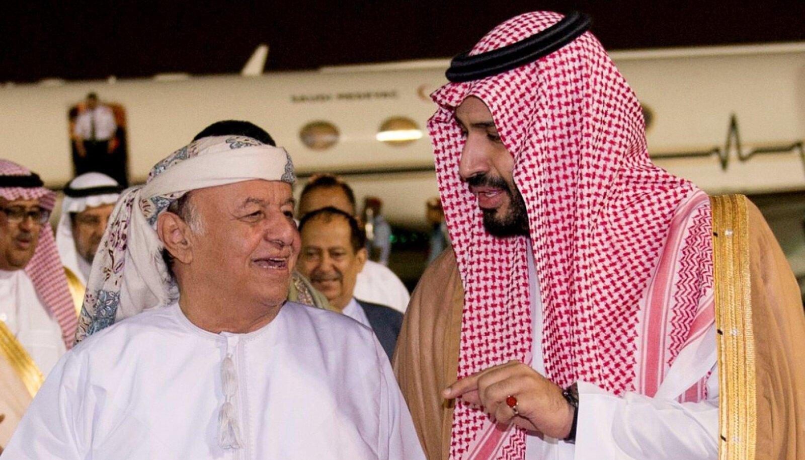 Jeemeni president Hadi ja Saudi Araabia kaitseminister bin Salman