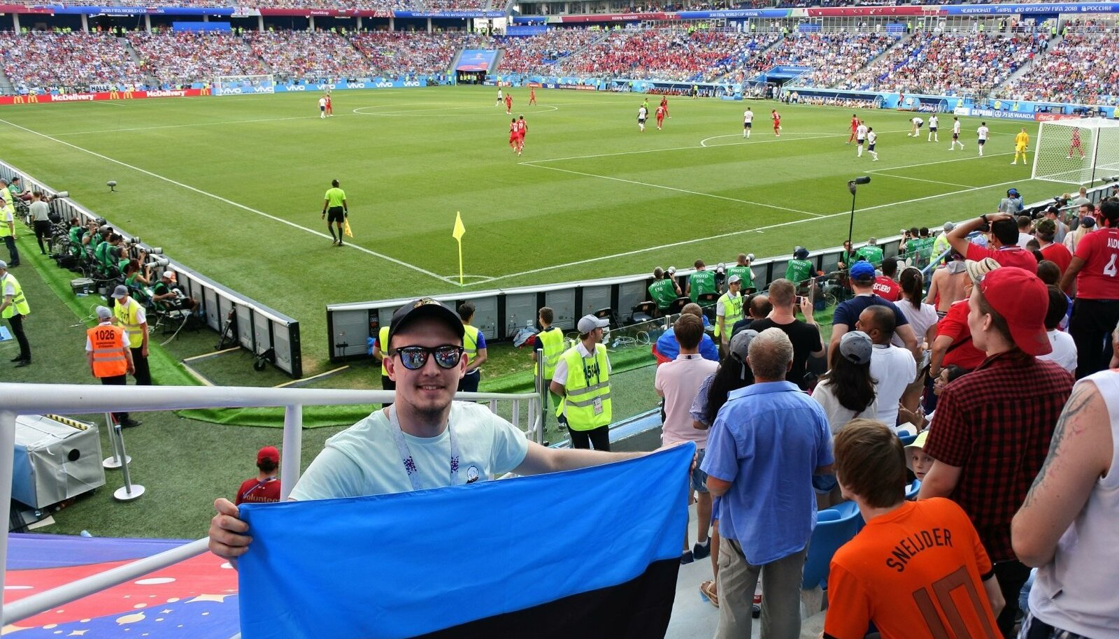 Inglismaa vs Panama Eesti lippuga