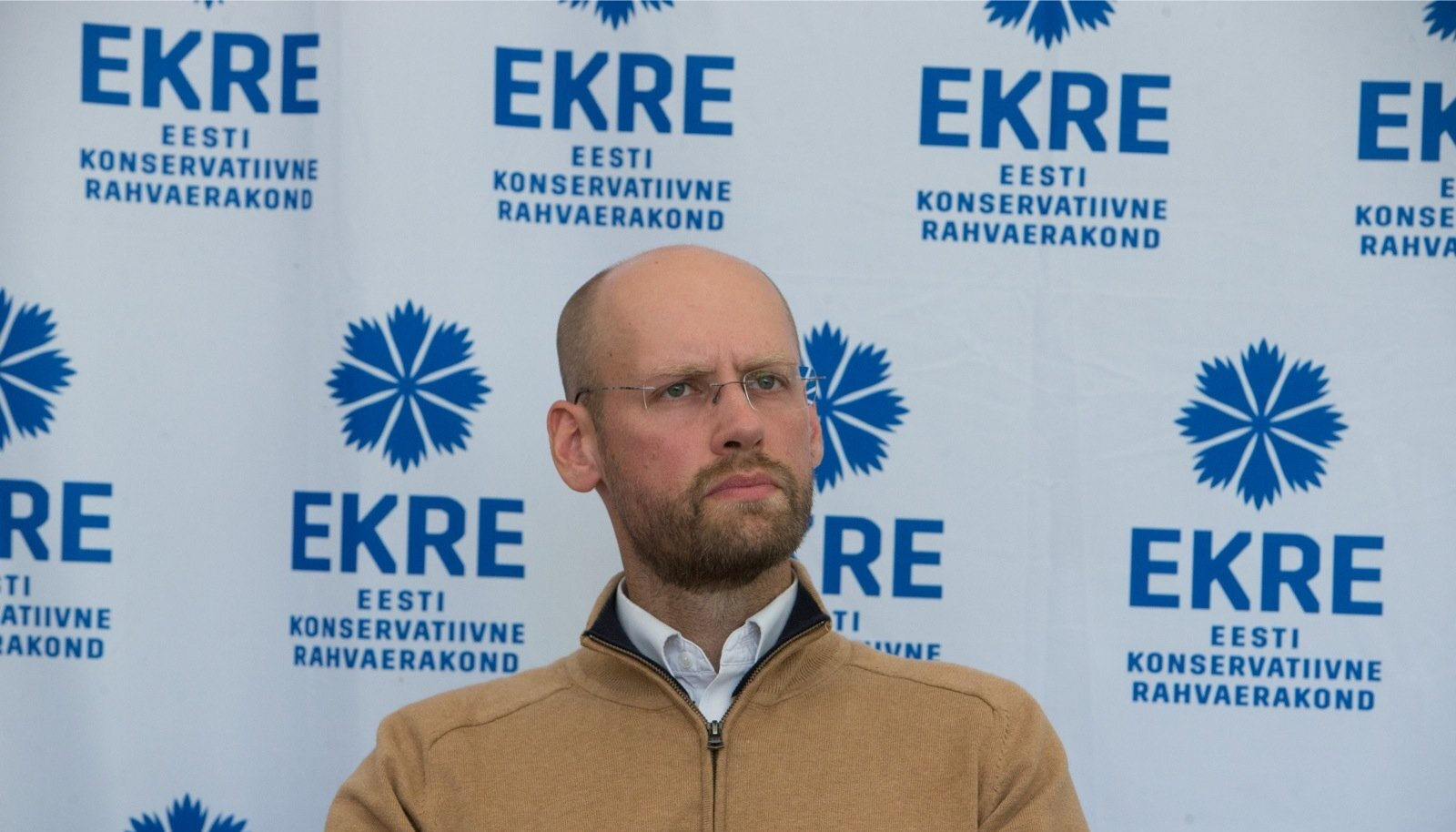 SAPTK juhatuse esimees ja Objektiivi tegevtoimetaja Varro Vooglaid Arvamusfestivalil EKRE alal.