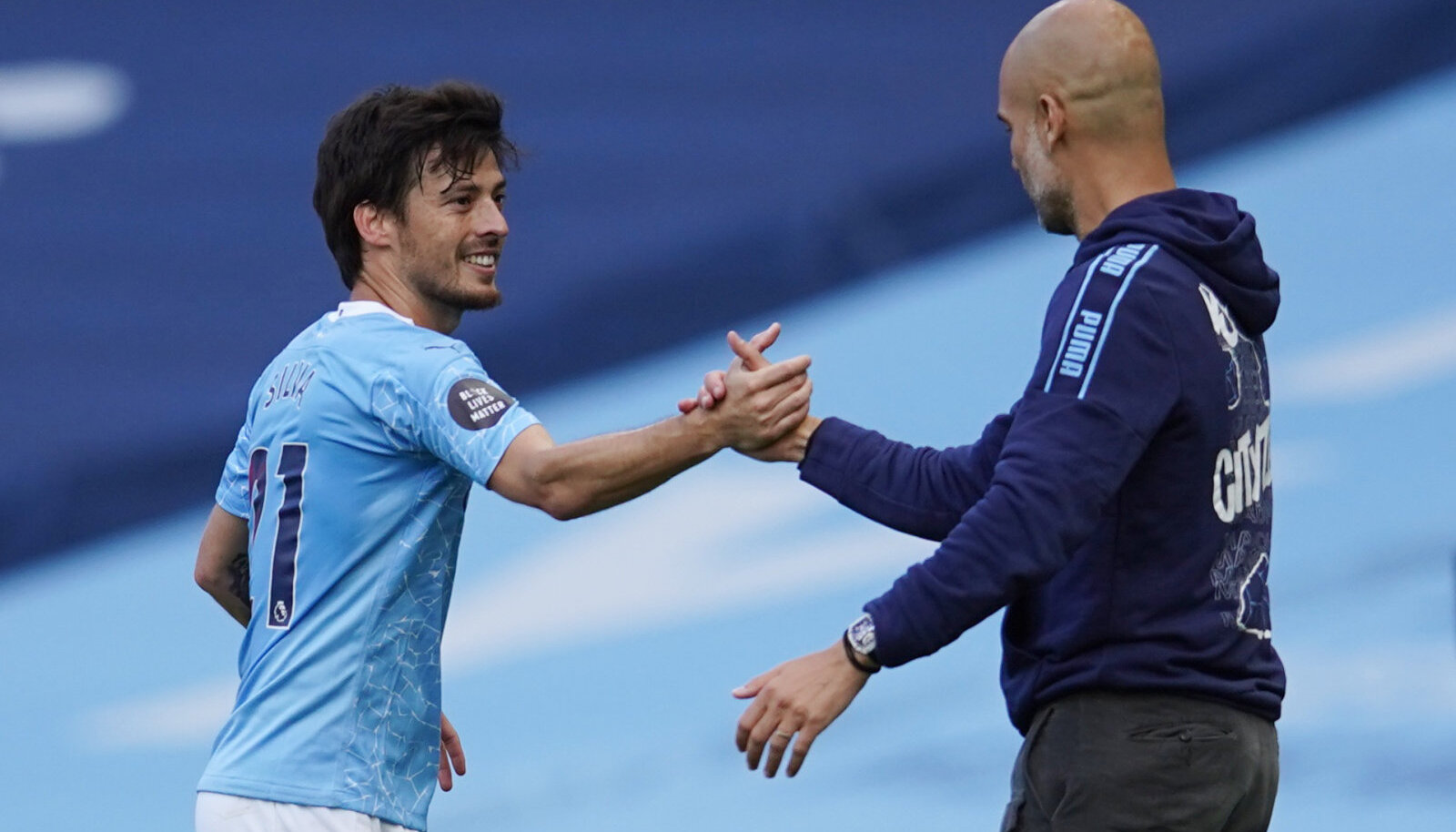David Silva ja Pep Guardiola