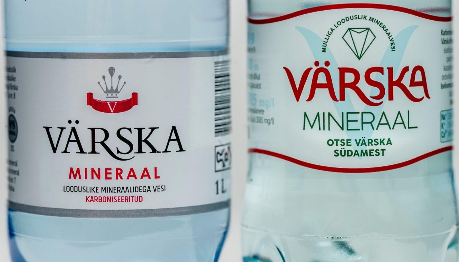 NAGU KAKS TILKA VETT: Värska mineraal ja Värska mineraal.