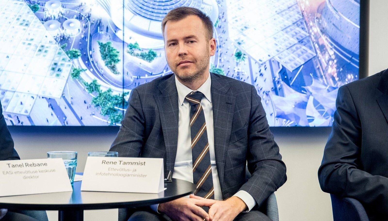 Ettevõtlus- ja infotehnoloogiaminister Rene Tammist