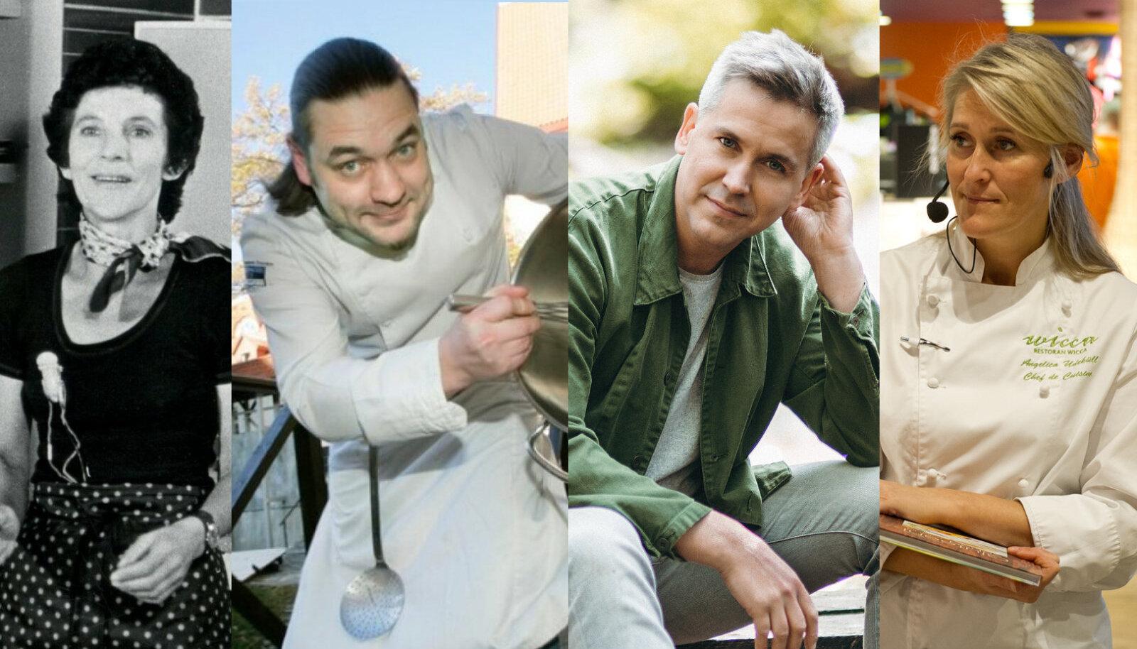 Armastatud kokasaadete juhid: Lilian Kosenkranis, Jazz alias Rainer Härm, Peeter Pihel, Angelica Udeküll.