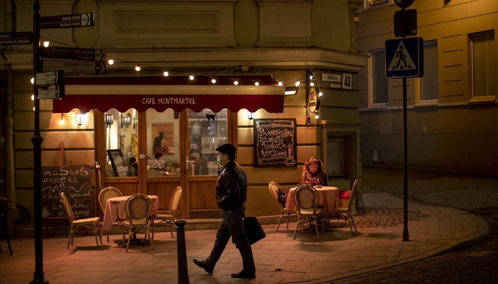 Restoran Vilniuses, pilt tehtud 31. oktoobril