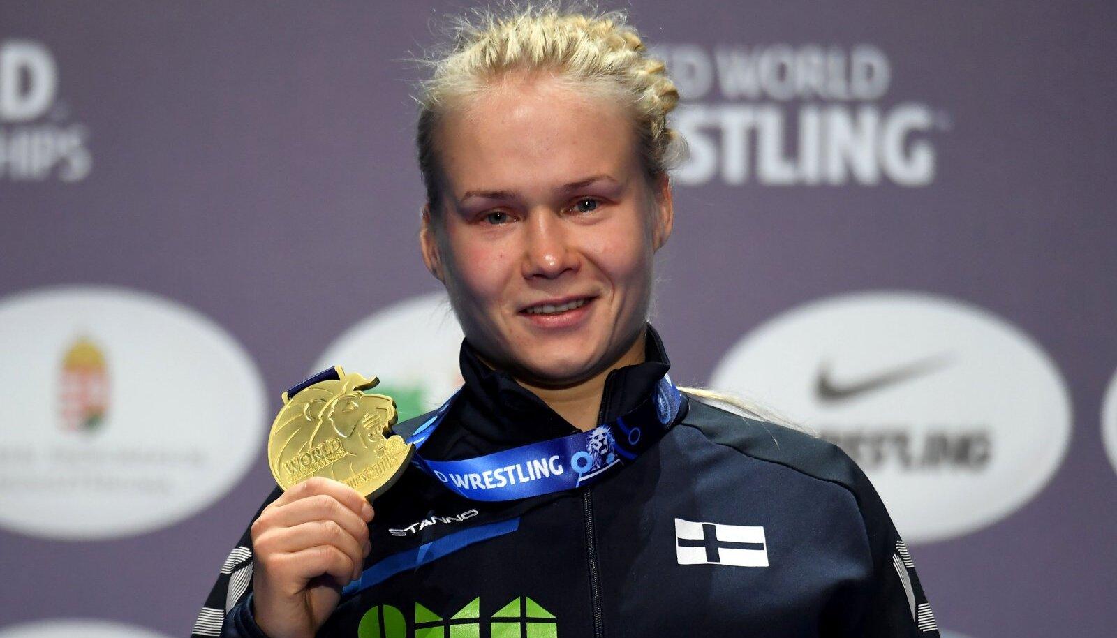 Petra Maarit Olli MM-kullaga
