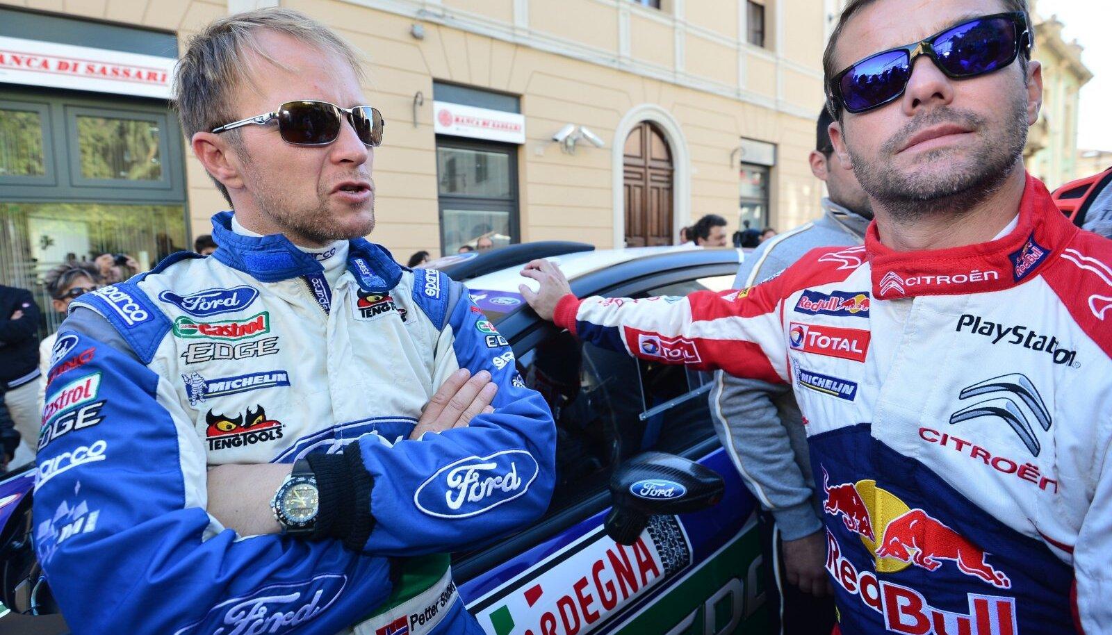 Petter Solberg ja Sebastien Loeb 2012. aastal.