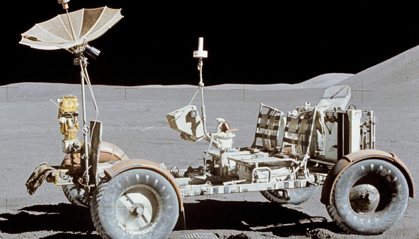 "Esimene ""autosõit"" Kuul toimus sellise masinaga (foto: NASA / CC BY-SA 4.0 / Wikimedia Commons)"