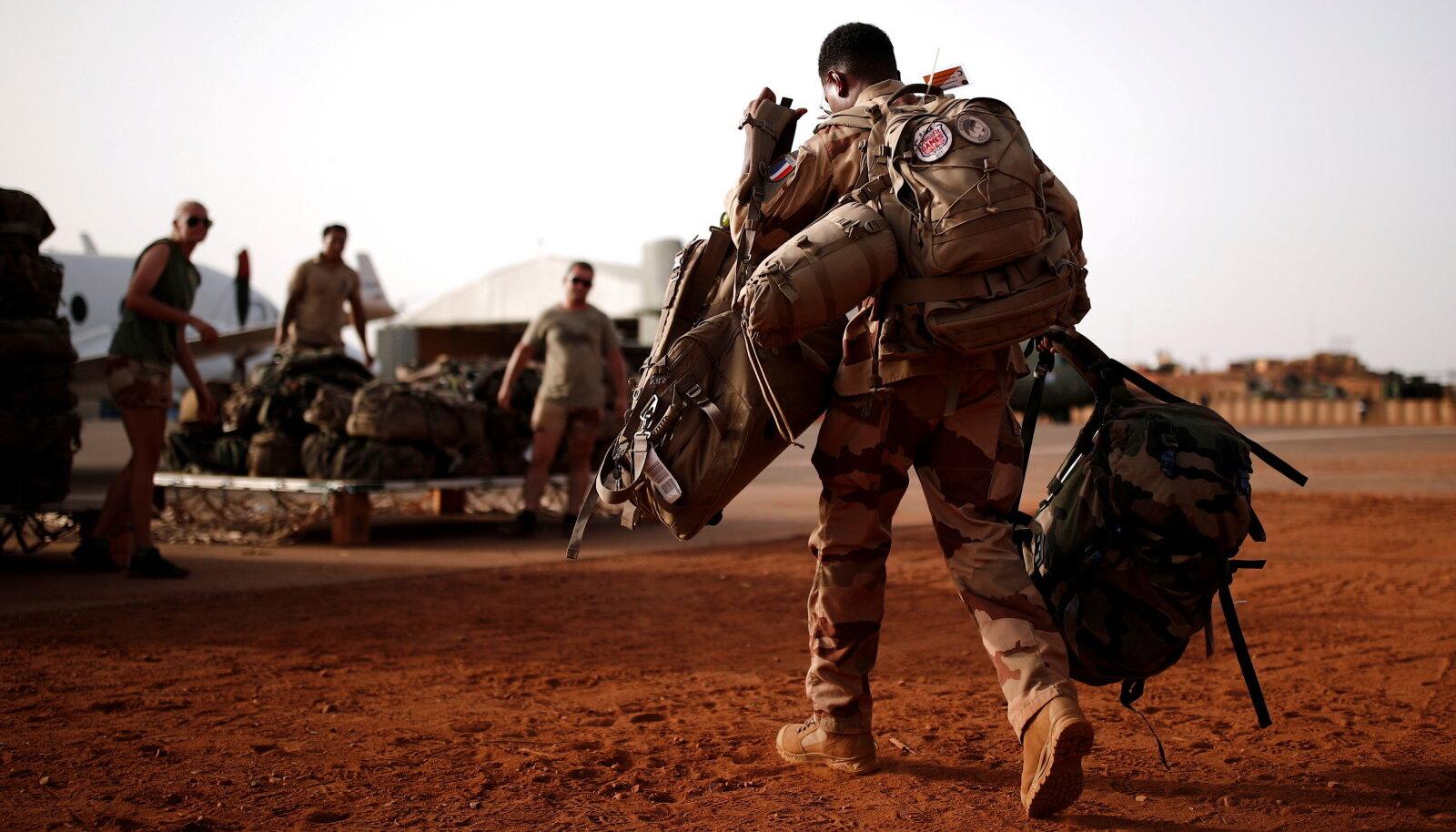 Prantsuse sõdur möödunud kuul Malis Gaos.