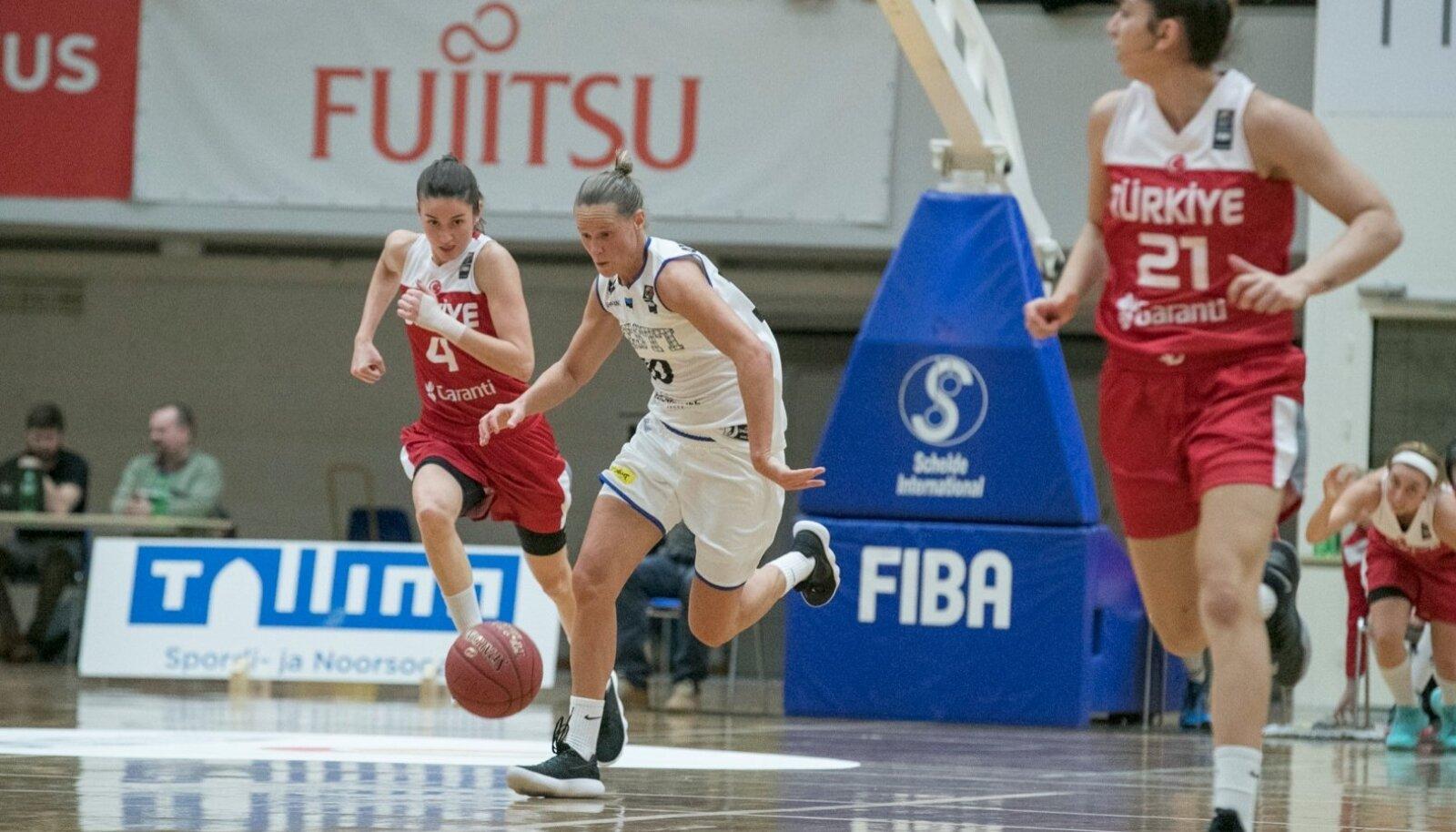 Eesti koondise kogenuim mängija Merike Anderson.