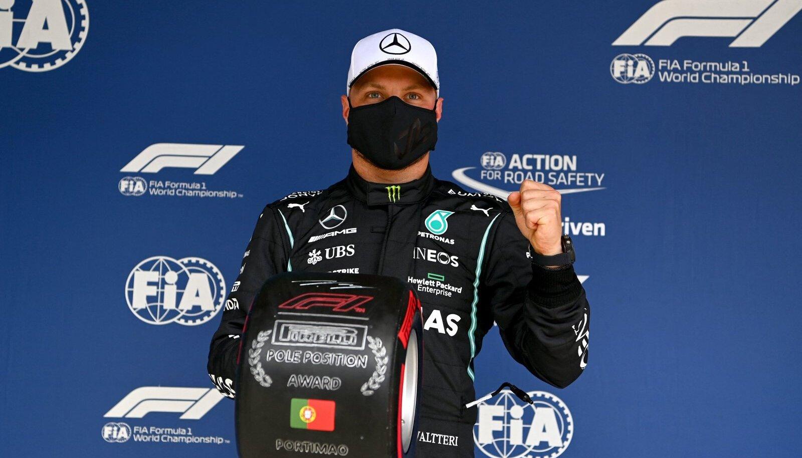 Valtteri Bottas võitis karjääri jooksul 17. korda kvalifikatsiooni.