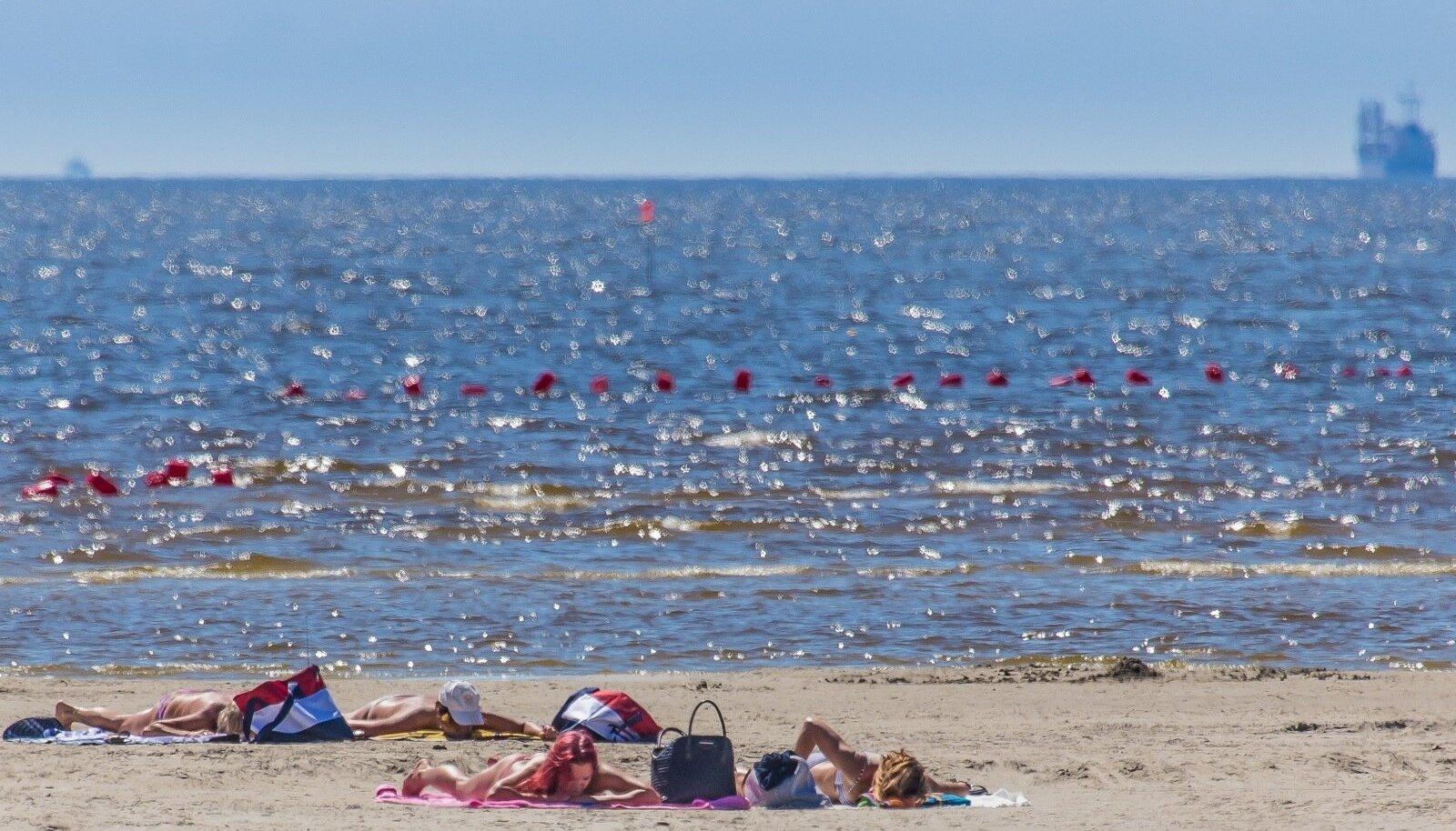 Pärnu rand. Pilt on illustratiivne.