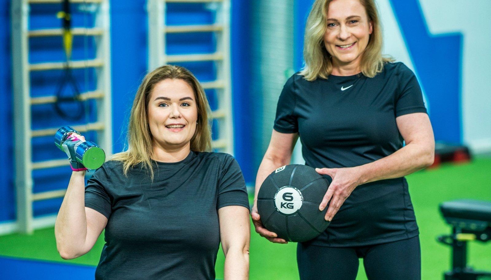 Liina (vasakul) ja Heidit on põnevil: kas kuu ajaga on võimalik oma kehakoostist muuta ehk rasva arvelt lihaseid kasvatada?