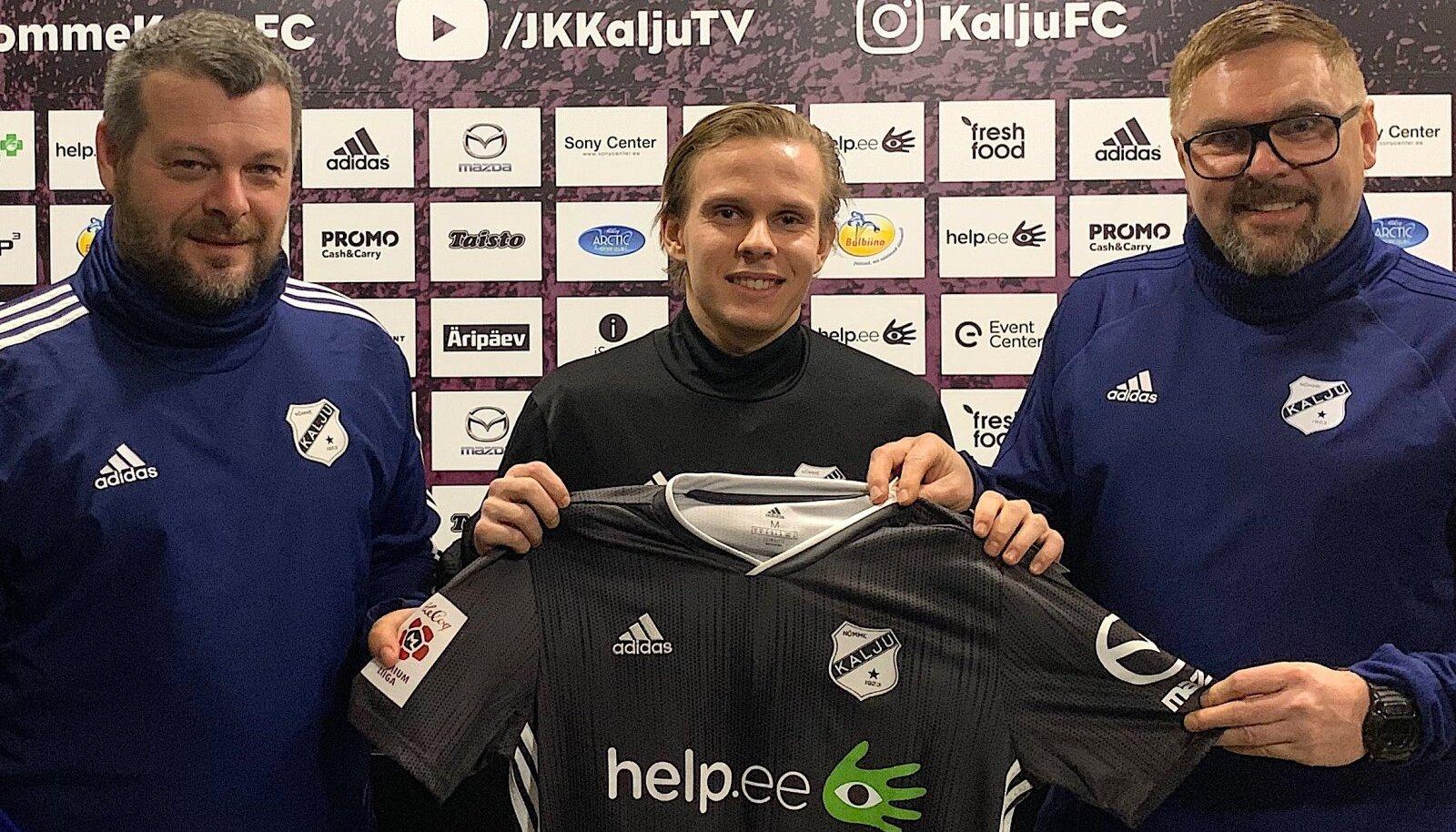 Andreas Raudsepp (keskel) koos Marko Kristali ja Kuno Tehvaga.