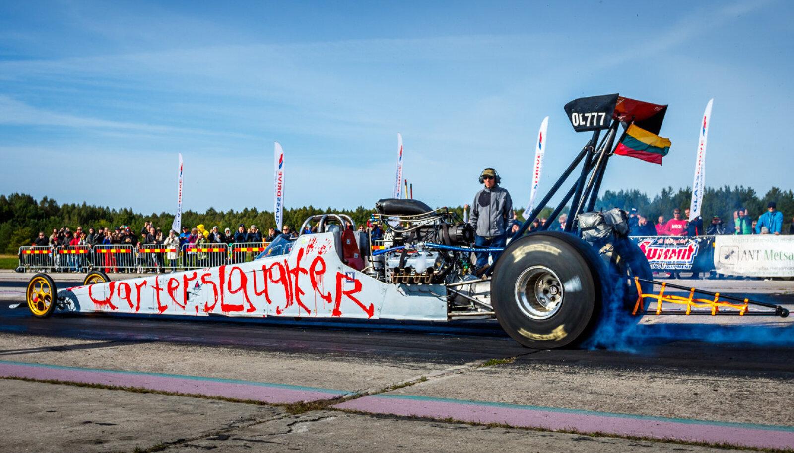 Mindaugas Beniušis läbis oma Top Methanol dragsteril veerandmiili 7,31 sekundiga.