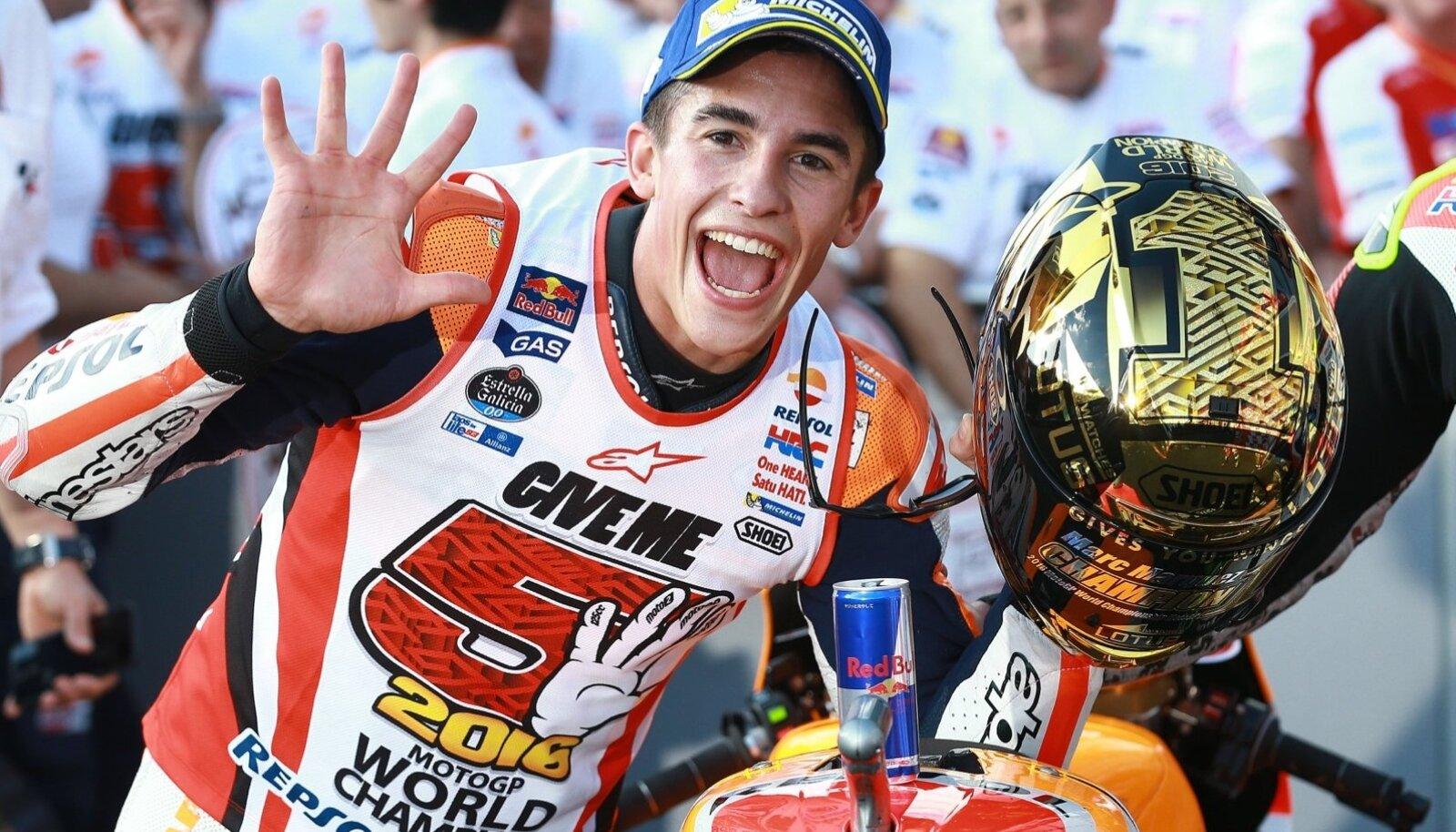 SUPERSTAAR: Marc Márquez võitis mullu oma viienda MM-tiitli mootorrataste ringrajasõidus, tuleva nädala lõpuks on ta tõenäoliselt juba kuuekordne maailmameister.