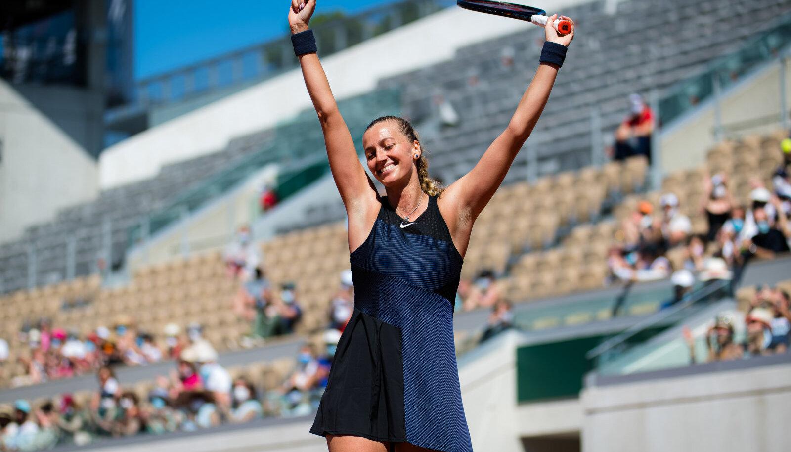 Petra Kvitova pühapäeval French Openi avaringi matšis.